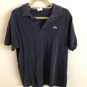 Men's Lacoste Navy Short-Sleeve Polo 6 Large